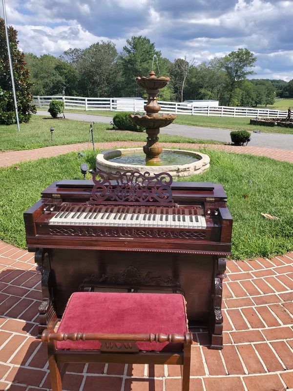 Jewett & Goodman Excelsior Organ Piano with bench