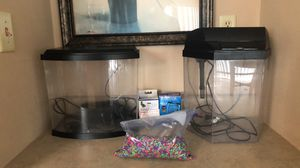 2 Working Fish Tanks with Filters and Rocks for Sale in O'Fallon, MO