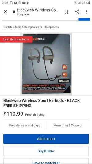 Blackweb Wireless Sport Earbuds - BLACK HPHONE A001 for Sale in Glendale, AZ