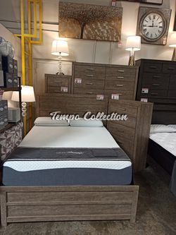 Claire Queen Bed Frame **MATTRESS NOT INCLUDED**, Gray, SKU# ASHB070TC for Sale in Santa Fe Springs,  CA