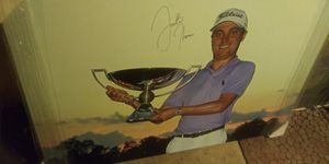 SIGNED AUTHOGRAPH WOOD NEW WALL PIC TAKE BEST OFFERS 48IN LOTS ITEMS MY POST GO LOOK for Sale in Jupiter, FL