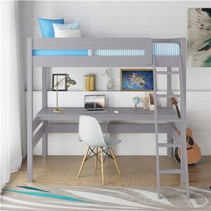 Dorel Living Harlan Twin Size Loft Bed with Desk and Ladder for Sale in Lemont, IL
