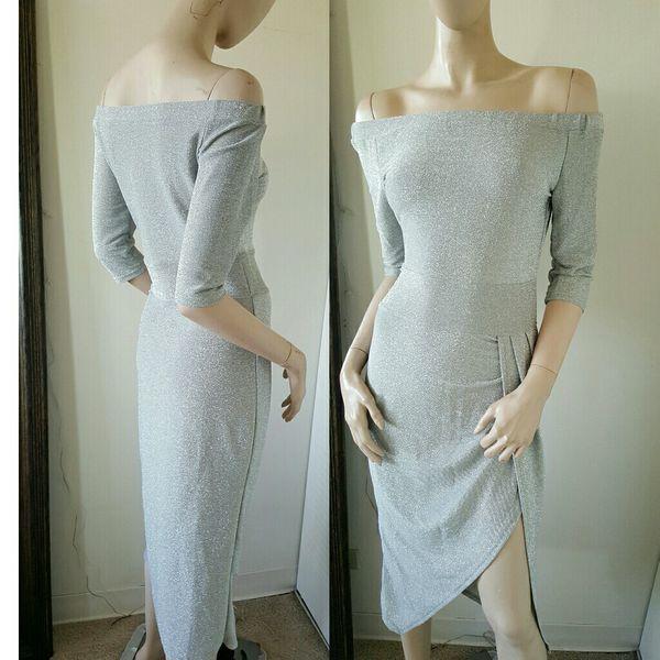 Bebe Dress Silver S Small
