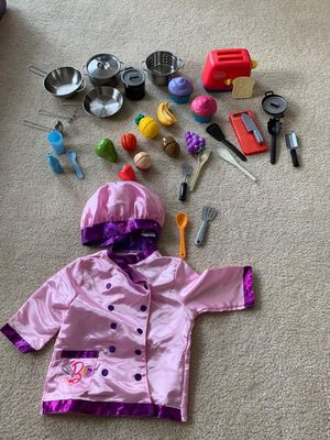 Barbie Chef Clothes and IKEA accesories for Sale in Aberdeen, MD