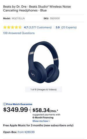 Original beats studio 3 Wireless for Sale in Boston, MA