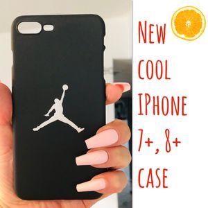 New cool iphone 7+ or iphone 8+ PLUS case slim fit plastic sleeve case JORDAN JORDANS hypebeast hype swag men's women's for Sale in San Bernardino, CA