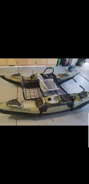Inflatable Fishing Pontoon Boat (Like New) for Sale in Gilbert, AZ