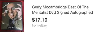 The mentalist Gerry mccambridge dvd autographed movie biography dvds funny comedy for Sale in Glendale, AZ