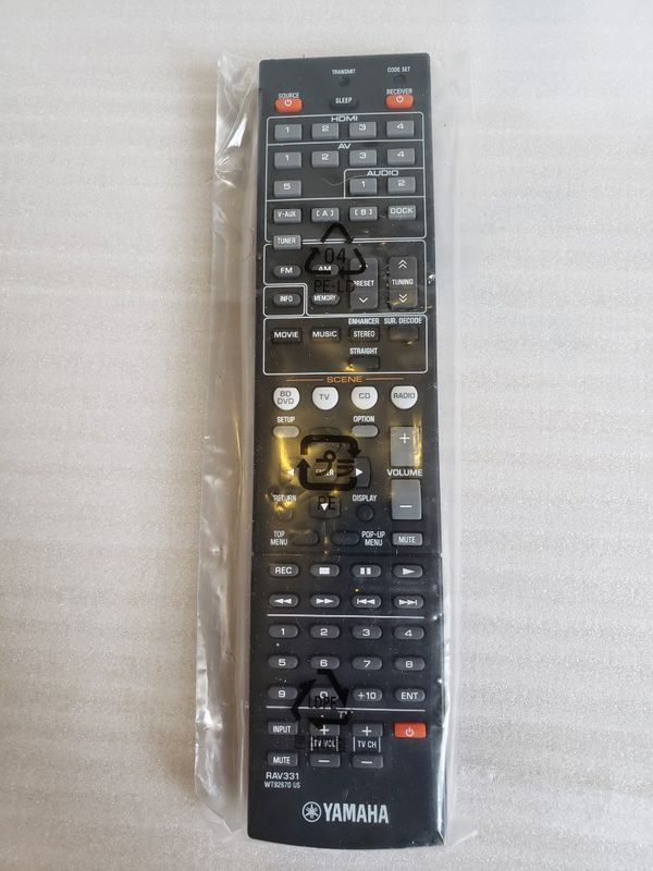 Genuine Yamaha RAV331 WT92670 US Remote Control. New.