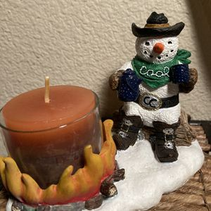 """Cool ☃️cowboy"" Snowman Candle for Sale in Sherwood, OR"