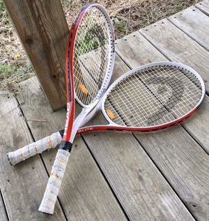 "Pair Of Head Elite Lite Tennis Racquets - 4 1/2"" Grip Rackets Sports Outdoor Red Sporting Goods for Sale in Hanceville, AL"