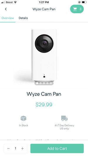 Have 2 black cameras 1 white and 1 white cam pan for Sale in Melbourne, FL