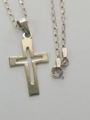 """Silver Chain and Charm 18"""" for Sale in San Diego, CA"""