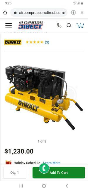 Dewalt wheel barrel portable gas air compressor for Sale in Levittown, PA