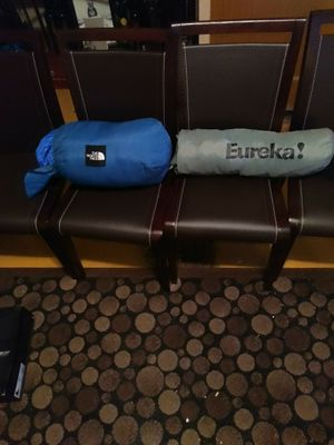Northface Sleeping Bag and a Eureka Tent for Sale in Philadelphia, PA