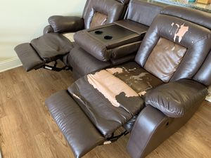 3 Seat Recliner Sofa for Sale in Charlotte, NC