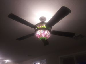 Ceiling fan and dragonfly l8ght for Sale in Phoenix, AZ