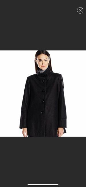 Larry Levine pea coat luxury jacket black wool XS women for Sale in Union City, CA
