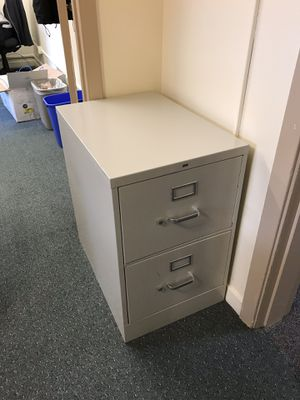 Wide, metal, 2-drawer filing cabinet for Sale in Portland, OR