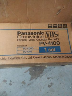 Panasonic omnivision VHS video recorder for Sale in Chicago, IL