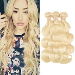 #613 Blonde Brazilian Virgin Body Wave Human Hair 1 Bundle Unprocessed Remy Human Hair Bundles for Sale in Atlanta, GA