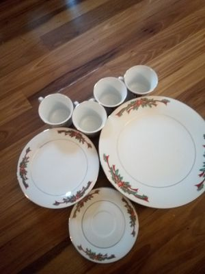 Poinsettia and Robinson fine china porcelain dinnerware for Sale in Benton, IL