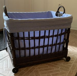 Pottery Barn Kids Toy Basket with Liner for Sale in Bethesda, MD
