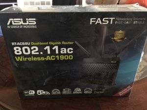 Asus RT-AC68U dualband gigabit router for Sale in Diamond Bar, CA