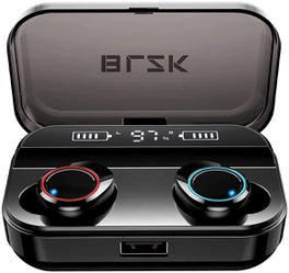 Wireless Earbuds, BLZK Latest Bluetooth 5.0 True Wireless Bluetooth Earbuds, with bass 3D Stereo Sound Wireless Headphones, Built-in Microphone LED for Sale in Ontario,  CA