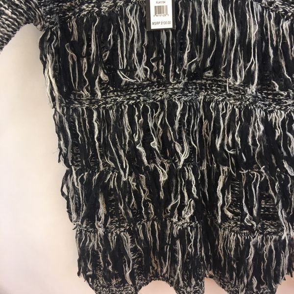 Romeo & Juliet Couture Sweater Fringe Pullover S