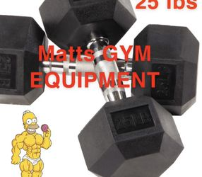 New 25 Lb Hex Rubberized Dumbbell Pair for Sale in Fort Lauderdale,  FL