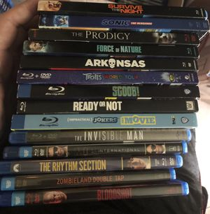 $10 each Blu-ray Dvd sale. Trolls,sonic,invisible man,bloodshot,Scoob for Sale in Grand Prairie, TX