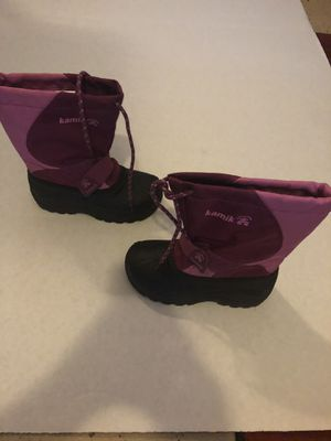 Like new girls snow rain boots size 12 for Sale in Chula Vista, CA