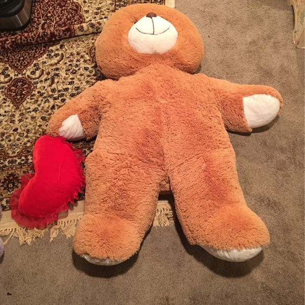 """Giant Brown Teddy Bear with """"I Love You"""" Heart"""