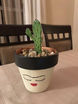Cactus-Handpainted Frida Pot for Sale in Orlando, FL