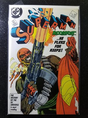 Superman 4 vol 2 (9.0) VF/NM (1987) 1st Bloodsport for Sale in Upper Marlboro, MD