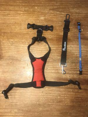 Dog harness w/seat belt attachment and dog color size small for Sale in Alpharetta, GA