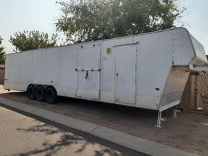 Enclosed trailer gooseneck 8 x 40 x7' inside tall for Sale in Mesa, AZ