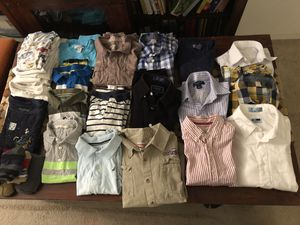 7-10Y old boys clothes, jeans, shorts, t-shirts, shirts, jackets, undershirts, socks, boots. More than 50 items for Sale in MARTINS ADD, MD