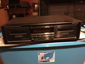 Onkyo dual stereo cassette tape deck and Toshiba 5 disc DVD Carousel for Sale in Cleveland, OH
