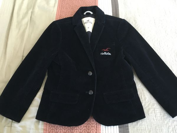 Women's Hollister Corduroy Casual Coat Size Medium color Black