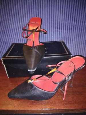 "Blk/Silver/Red 3"" Heels size 7 for Sale in Hyattsville, MD"