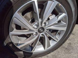 "Hyundai 18"" 5 lug black chrome rims new for Sale in Fontana, CA"
