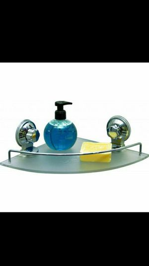 Bath Corner Shelf on Suction Cups Frosted Acrylic/chrome for Sale in Miami, FL