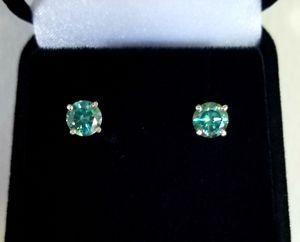 New beautiful 2ct moissanite blue diamonds stud earrings! for Sale in West Bloomfield Township, MI