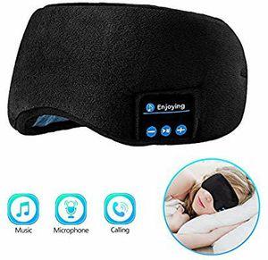 Sleep Headphones Bluetooth Eye Mask, Joseche Wireless Bluetooth 5.0 Headphones Music Travel Sleeping Headphones Handsfree Sleeping Mask for Sale in Hawthorne, CA