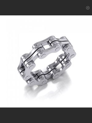 NWT High Polished Sterling Silver Biker Chain Ring Size 9 or 11 for Sale in Arbovale, WV