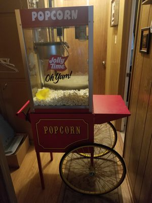 Vintage Style Popcorn Machine With Stand and Wheels, Jolly Time for Sale in Longview, TX