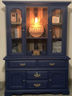 Navy blue hutch for Sale in Wildwood, MO
