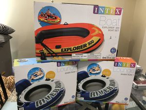 Inflatable boat and tubes for Sale in Richmond, TX